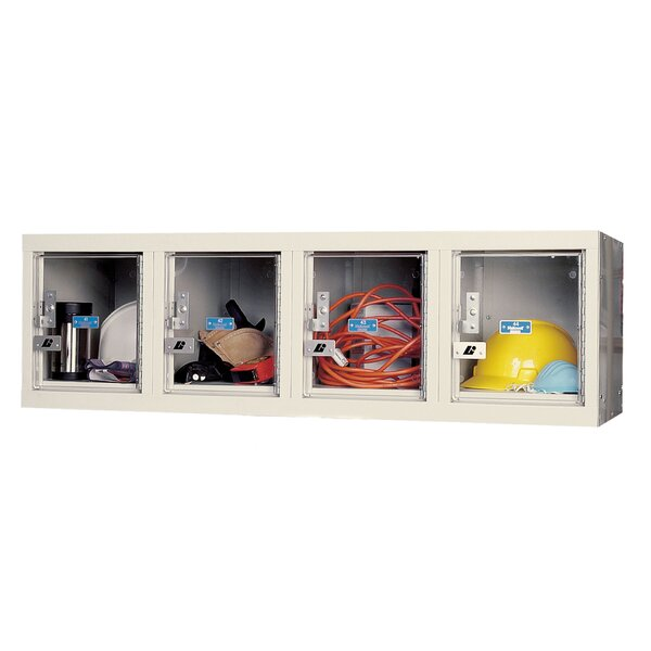 Safety-View 1 Tier 4 Wide Safety Lockers by Hallow