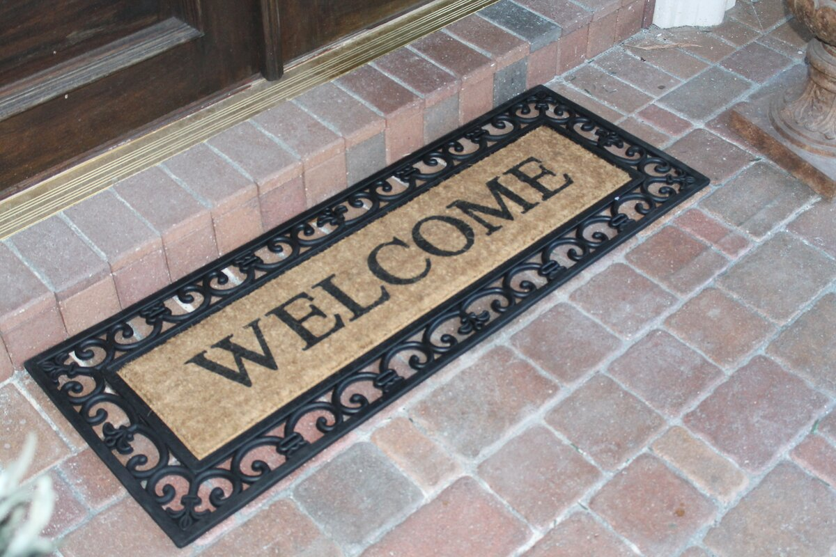 A1 Home Collections Llc Myla Welcome Doormat Amp Reviews