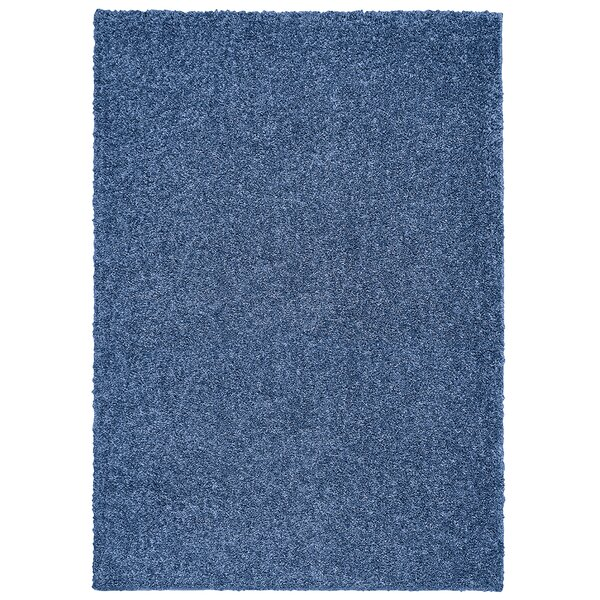 Broncho Blue Solid Area Rug by Three Posts