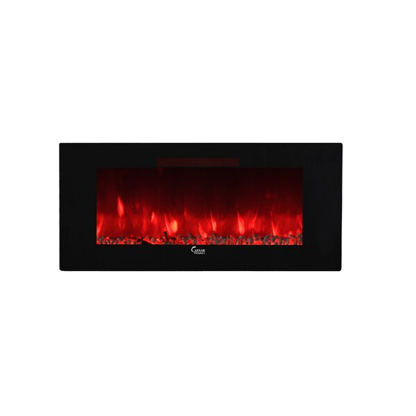 Manrique Wall Mounted Electric Fireplace Insert by Modern Rustic Interiors