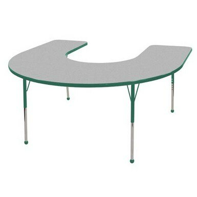 Horseshoe Thermo-Fused Adjustable 60 x 66 Horseshoe Activity Table by ECR4kids