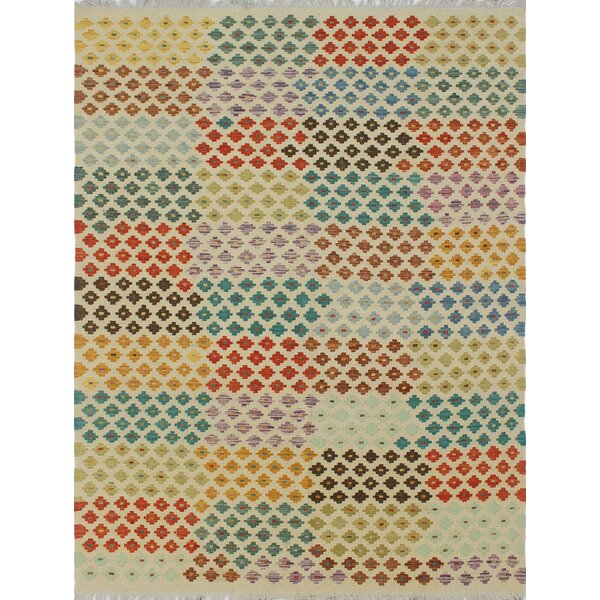 One-of-a-Kind Priston Hand-Woven Wool Beige Area Rug by Loon Peak