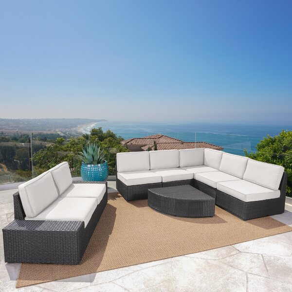 Mountview 8 Piece Sectional Seating Group with Cushions by Wade Logan