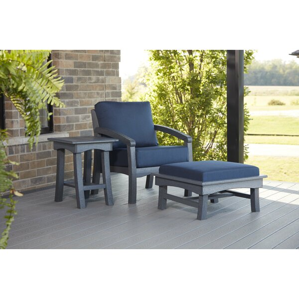 Clabaugh Patio Chair with Cushions by Highland Dunes