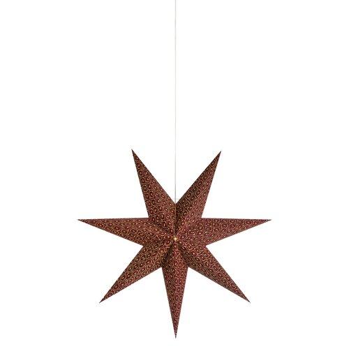 1 - Light Star Pendant Markslojd Shade Colour: Bordeaux, Size: 45cm H x 45cm W x 15cm D
