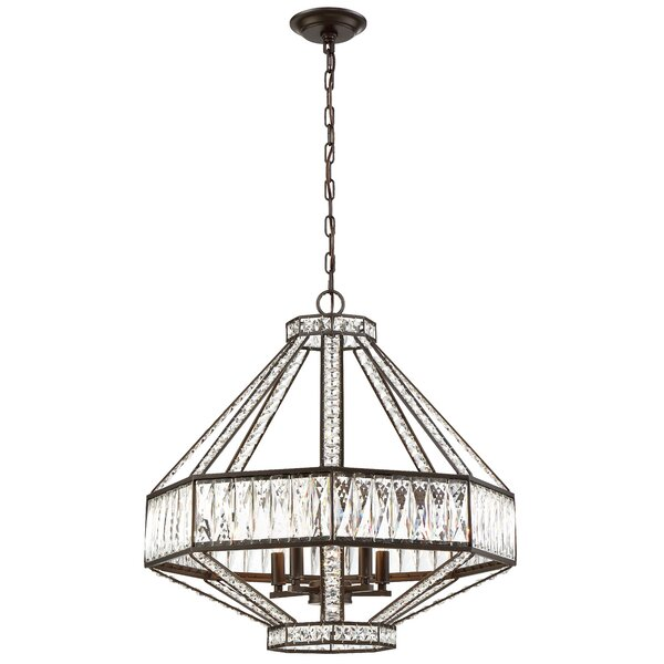 Sheryll 5-Light Unique / Statement Geometric Chandelier By Everly Quinn
