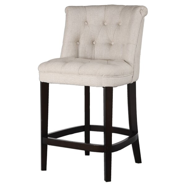 Braeswood Tufted Counter Stool by Darby Home Co