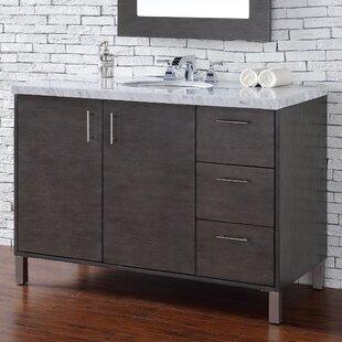 Elbridge 48 Single Silver Oak Quartz Top Bathroom Vanity Set