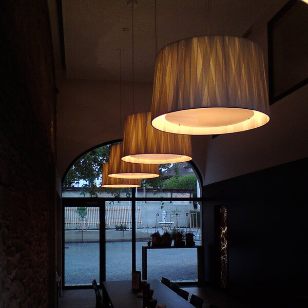 6 - Light Shaded Drum Chandelier By ZANEEN Design