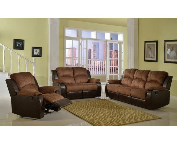 Riaan 3 Piece Reclining Living Room Set by Red Barrel Studio
