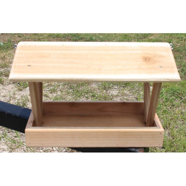 Open Platform Tray Bird Feeder by Cedar Creek Woodshop