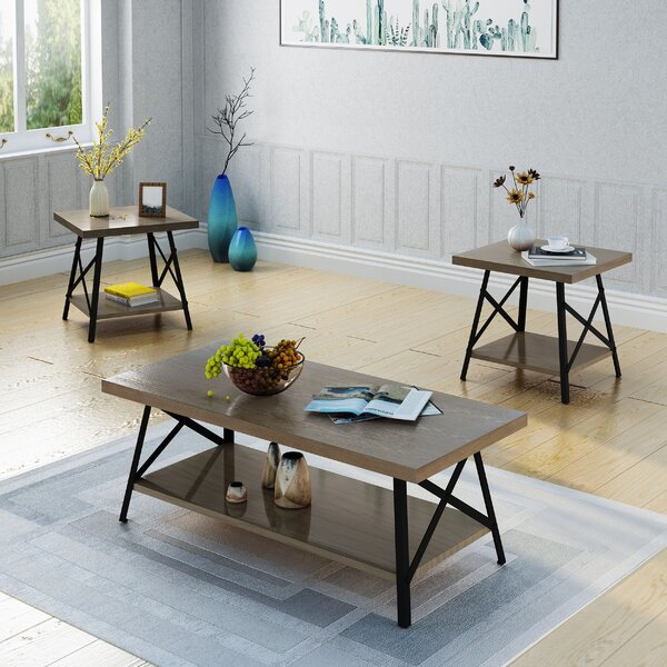 Ellefson 3 Piece Coffee Table Set by 17 Stories
