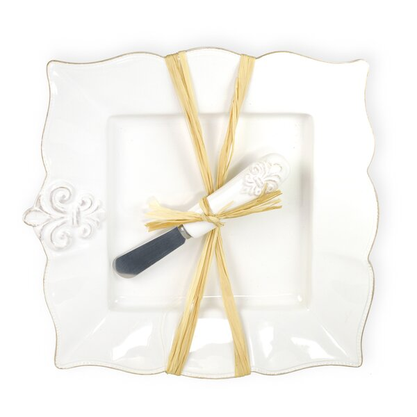Fleur De Lis 2-Piece Plate Set by Boston Internati