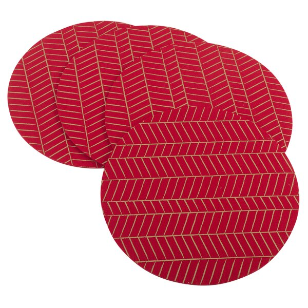 Eilers Chevron Christmas Placemat (Set of 4) by Ivy Bronx
