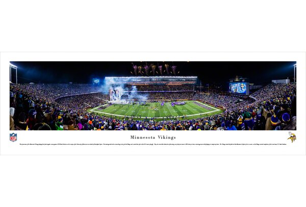 NFL Minnesota Vikings - Tcf Bank Stadium by Christopher Gjevre Photographic Print by Blakeway Worldwide Panoramas, Inc