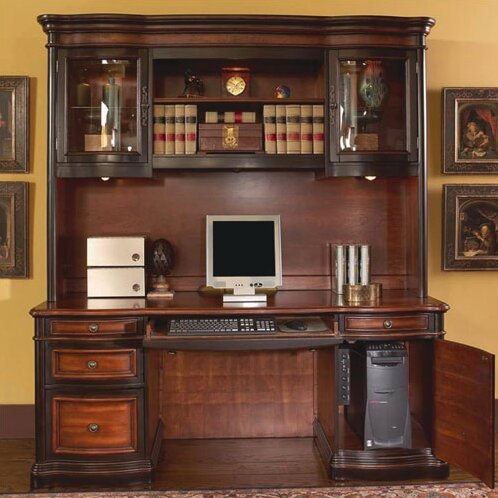 Shannondale Computer Desk with Hutch by Astoria Grand