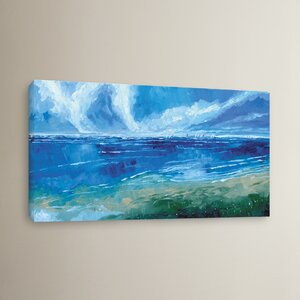Rectangular Seascape I Painting Print on Wrapped Canvas by Breakwater Bay