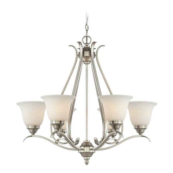 Pottersmoor 6-Light Shaded Chandelier by Darby Home Co
