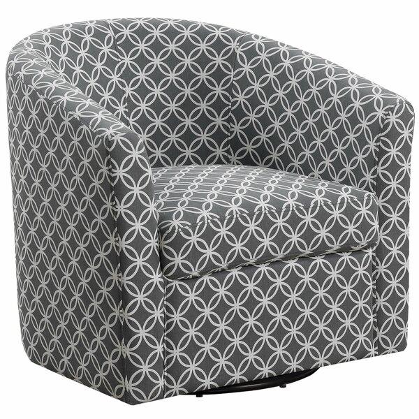 Hand Swivel Barrel Chair by Wrought Studio