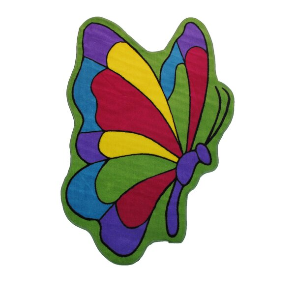 Fun Time Butterfly Flight Area Rug by Fun Rugs