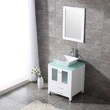 Rodarte 24'' Single Bathroom Vanity Set with Mirror by Brayden Studio