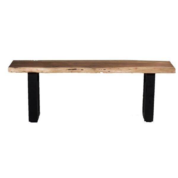 Kavya Live Edge Wood Bench by Union Rustic