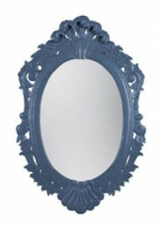 Oval Carved Accent Wall Mirror by One Allium Way