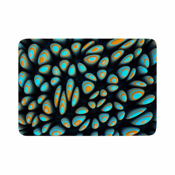Danny Ivan Blobbly Pattern Memory Foam Bath Rug by East Urban Home