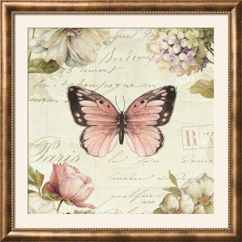 Ophelia & Co. \'Marche de Fleurs Butterfly I\' Framed Graphic Art ...