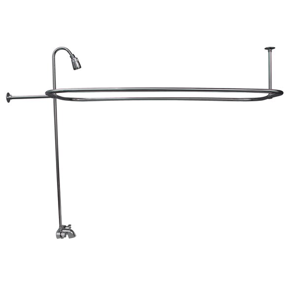 Double Handle Wall Mounted Clawfoot Tub Faucet Trim with Diverter by Barclay Barclay