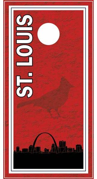 St. Louis Skyline Cornhole Board by Lightning Cornhole