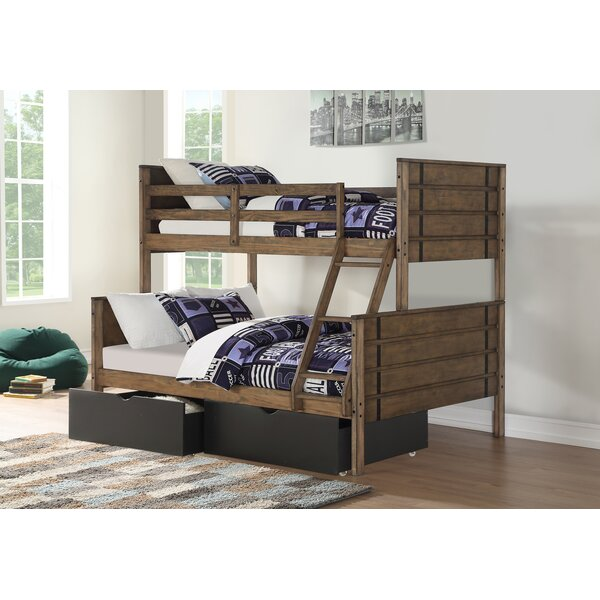 Collum Twin Over Full Bunk Bed with Drawers by Harriet Bee