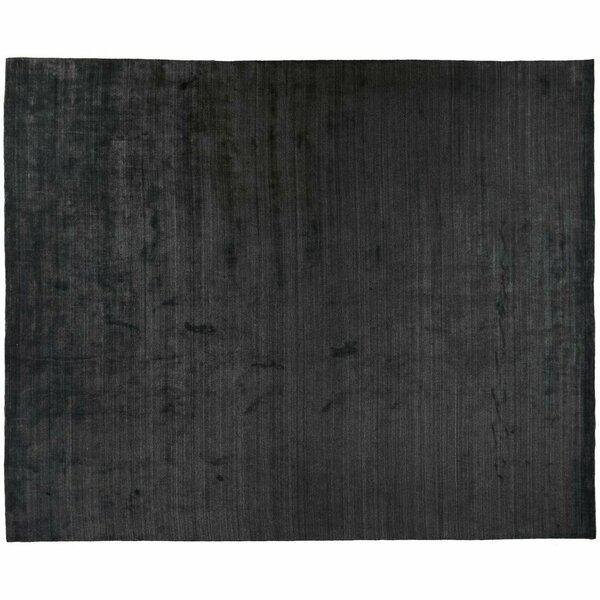 One-of-a-Kind Hand-Knotted Charcoal 12'4 x 15'2 Wool Area Rug