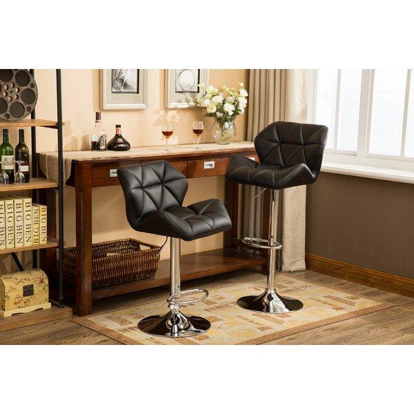 Marceline Hydraulic Adjustable Height Swivel Bar Stool (Set of 2) by Zipcode Design