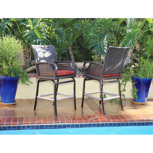 Pastore 30 Patio Bar Stool with Cushion (Set of 2) by Loon Peak| @ $619.99