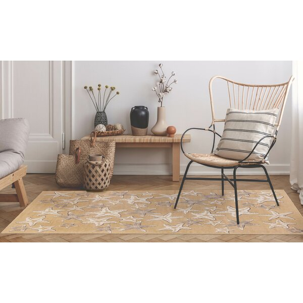 Desantiago Starfish Sand Indoor/Outdoor Area Rug by Highland Dunes