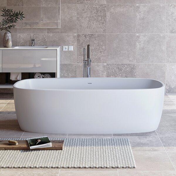Coletta™ 70.75 x 35.5 Freestanding Soaking Bathtub by Aquatica