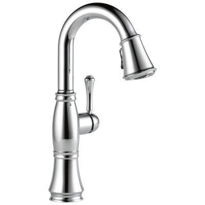 Pull Down Single Handle Kitchen Faucet Delta Finish: Arctic Stainless -  9997-AR-PR-DST