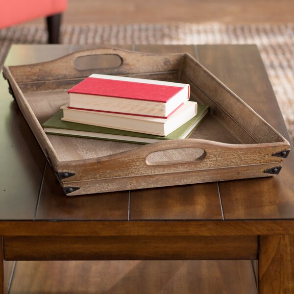 Clemence Rectangular Wood Serving Tray by World Menagerie