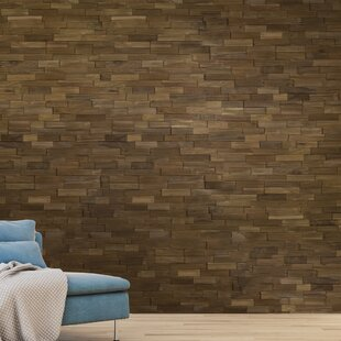 Solid Wood Wall Paneling In Dark Wood