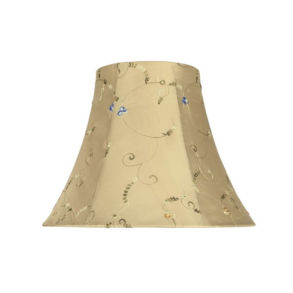14 Fabric Bell Lamp Shade with Floral Embroidered by Darby Home Co