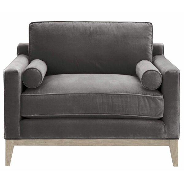 Dryer Velvet Upholstered Armchair by Everly Quinn