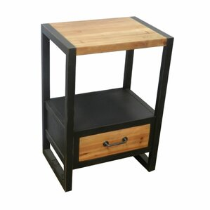 17 Stories Verma Fashionable Wooden End Table