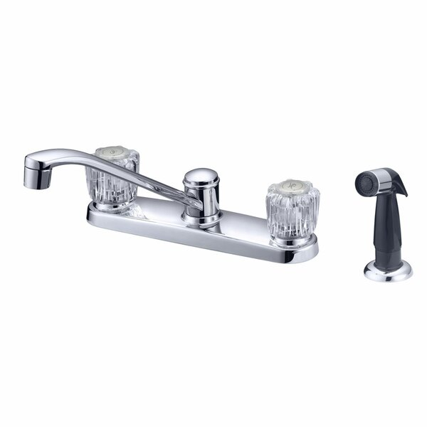 Double Handle Kitchen Faucet With Side Spray By LessCare