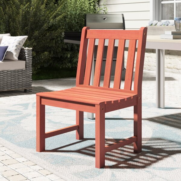 Amabel Teak Patio Dining Chair by Beachcrest Home Beachcrest Home