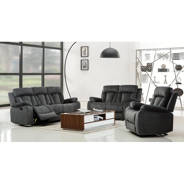 Troxler Reclining 3 Piece Living Room Set