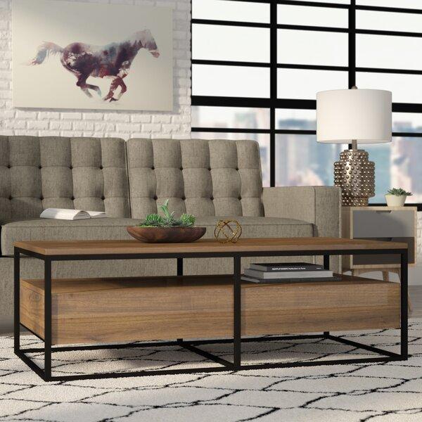 Hughey Coffee Table with Storage by Brayden Studio
