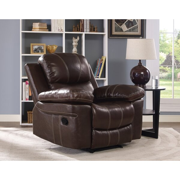 Bibbs Leather Power Glider Recliner by Red Barrel Studio