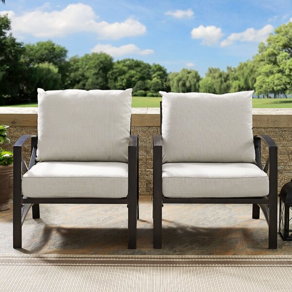 Freitag Patio Chair with Cushions (Set of 2) by Ivy Bronx