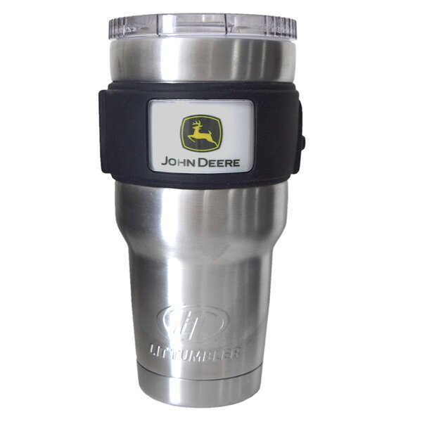 John Deere Licensed Stainless Steel Water Bottle/Travel Tumbler (Set of 6) by LiT Coolers